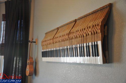 دکوراسیون داخلی با گیتار و پیانو