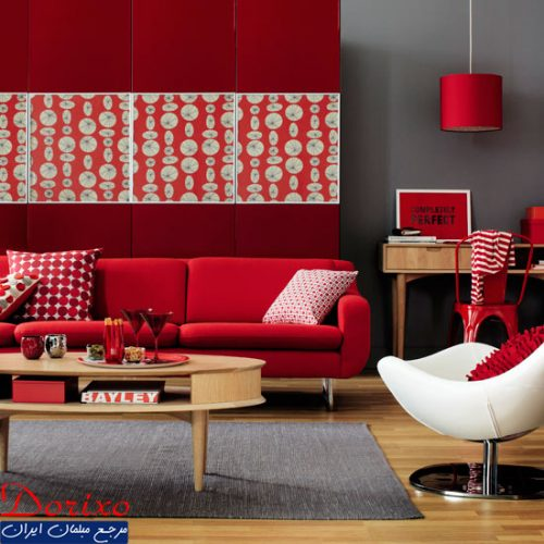 دکوراسیون رنگ قرمز/رنگ اصلی