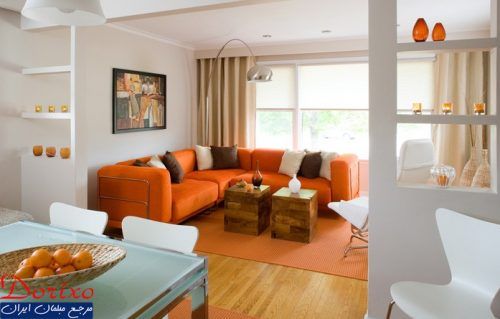 دکوراسیون رنگ پرتقالی/ رنگ فرعی