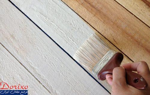 رنگ پوششی روی چوب