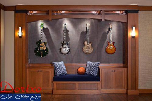 دکوراسیون داخلی خانه با گیتار