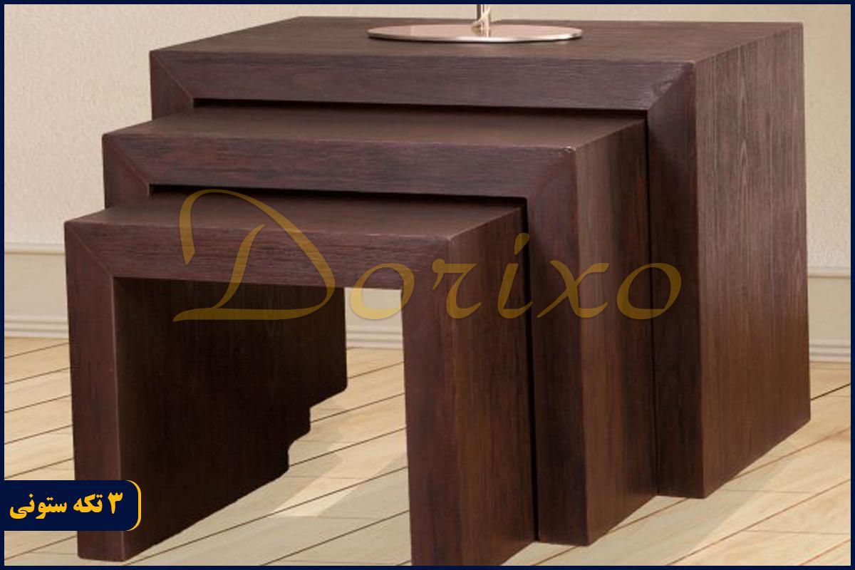 3تکه ستونی3 - میز عسلی 3 تکه ستونی