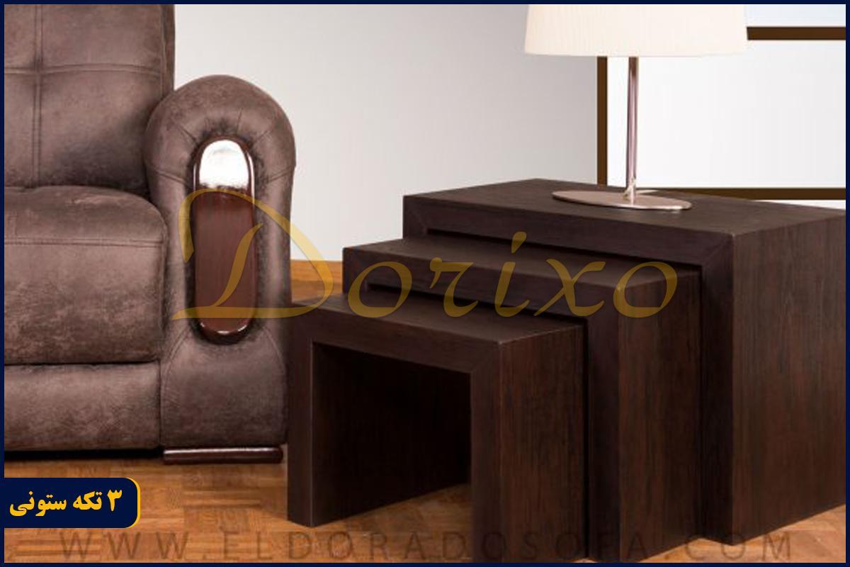 3 تکه ستونی 2 - میز عسلی 3 تکه ستونی