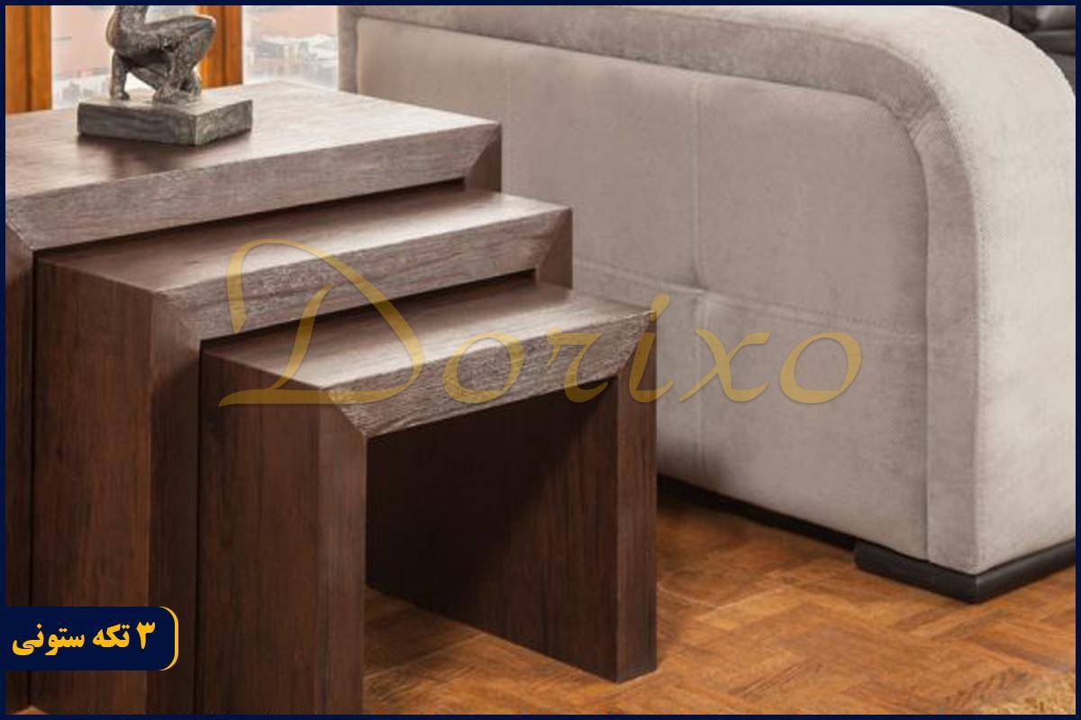 3 تکه ستونی1 - میز عسلی 3 تکه ستونی